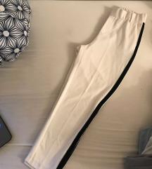 Bele hlače s črto Zara