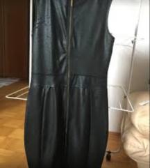 usnjen plasc in obleka L