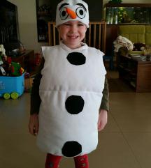 pustni kostum Olaf