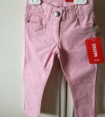 NOVE otroške roza jeans hlače 98 3 l. (s ptt)