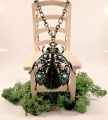 Ogrlica Zelen Hrošč