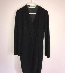 Črna elegantna oblekca z bleščicami