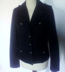 military črna prehodna jakna,S-M