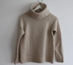 Beš Massimo Dutti pulover (volna+viskoza)