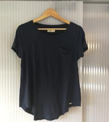 Temno modra Hollister majica s kratkimi rokavi