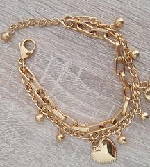 Zlata zapestnica-jeklo,nova