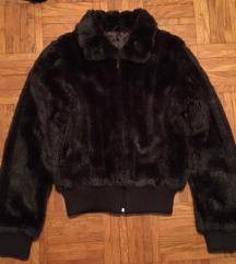 Rjava krznena jakna M