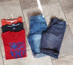 NIKE , ZARA kratke hlače in majice 152