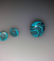 Unikatni uhani in prstan