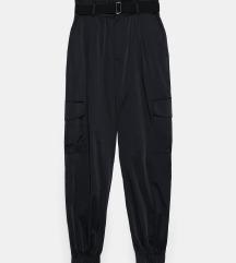 Zara cargo satin hlače