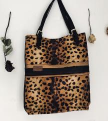 Rocno narejena torbica animal print