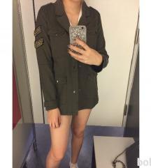 NOVA military green daljša jakna