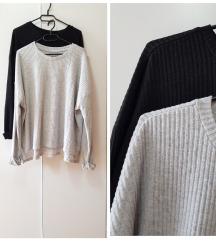siv modni nenošen puloverček ( črn že prodan )
