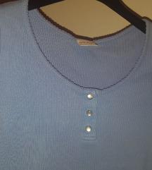 Svetlomodra kratka majica