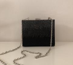 Glittery črna torbica