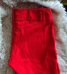 Rdeče jeans kratke hlače