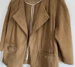 Ugodno! Massimo Dutti usnjena/semiš jakna