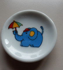 DOM - dekoracija ■mini krožniček ■motiv slončka