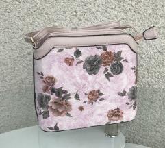 NOVA roza torbica z vrtnicami