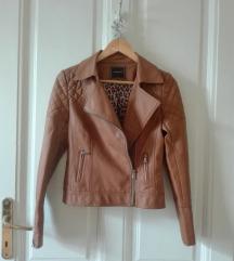 Rjava usnjena jakna