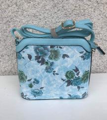 torbica z vrtnicami  NOVE rozasta in babyblue