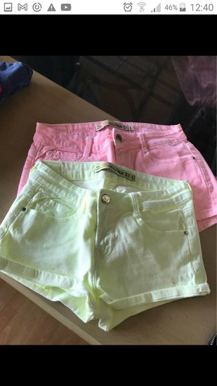 ZARA kratke rumene hlače (vel. 34)