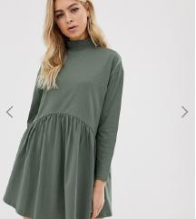 NOVA jesenska obleka v barvi khaki