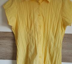 Rumena srajca s kratkimi rokavi