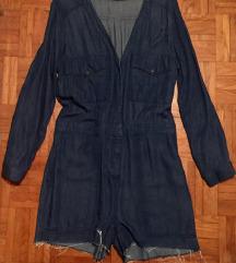 H&M denim pajac s kratkimi hlačami M/38