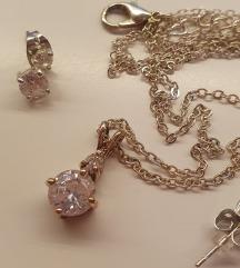 NOVA ogrlica in uhani (set)