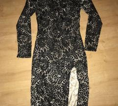elegantna obleka z izrezom