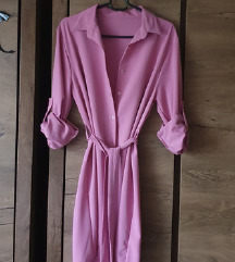 Roza srajčna obleka/jopica 12 eur!
