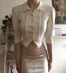 Bela bluza in zlato metalic krilo