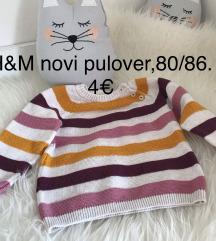 Novi h&m otroški pulover 80/86