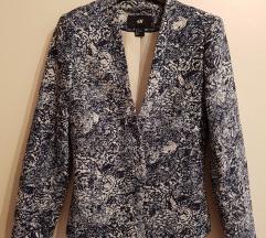 HM suknjič blazer porcelan print /34
