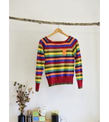 pisan '2000' pulover z našitkom Y