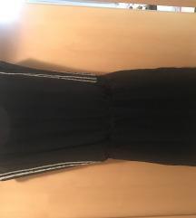 Crna kratka obleka + ppt v ceni