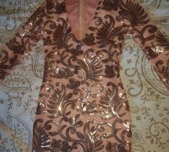 bleščeča kratka oblekica