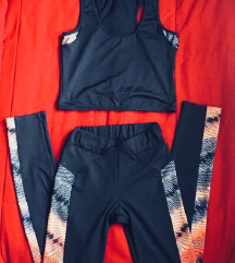 Športni komplet majica+pajkice M