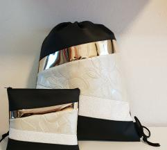 unikaten nahrbtnik s toaletno torbico