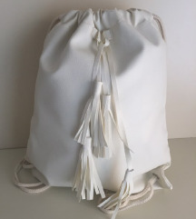 Bel  modni nahrbtnik