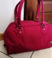 Rdeča Lacoste srednje velika torbica
