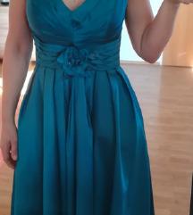 Svečana turkizna obleka, nova