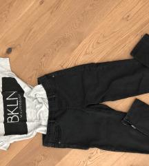 Tezenis jeggins in Bershka majica z verizico M