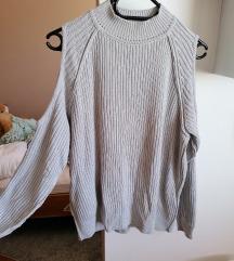 Puli-off shoulder pulover hm