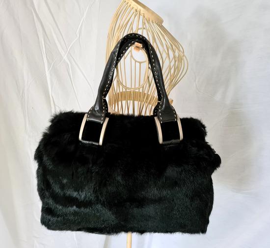 GROŠELJ krznena torbica