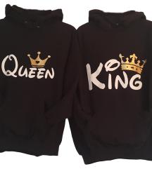 Komplet puloverjev za par - KING/QUEEN