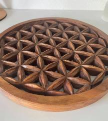 Lesena izrezljana Roža Življenja