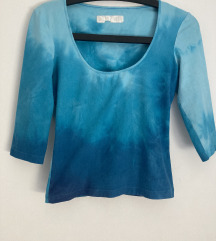 Modra elastična majica XS/S