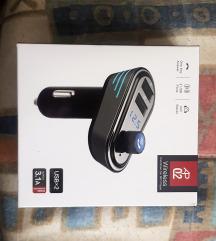 FM oddajnik in USB polnilec